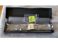 Shark Mesh 316L Stainless Steel Diver's Watch Strap Adjustable Length 4x H Links