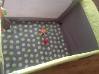 Baby play cot excellent condition for sale
