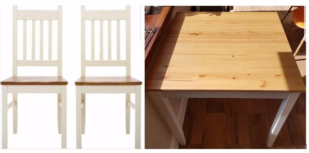 Solid Wood Dining Table   4 New Chiltern Solid Wood Chairs FREE DELIVERY 883Solid Wood Dining Table   4 New Chiltern Solid Wood Chairs FREE  . Old Dining Chairs Leicester. Home Design Ideas