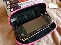 PsP console and 11 games