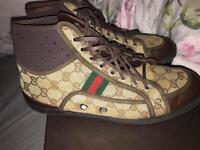 Mens Gucci shoes hi top trainers