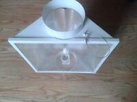 6 air cooled grow lights +fan