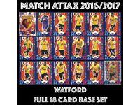 Match Attax 16/17 Full Team Set Watford