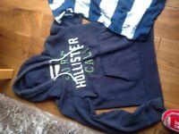 Hollister Sweatshirt and Polo shirt