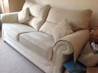 2 Seater Fabric Sofa Bed Cream