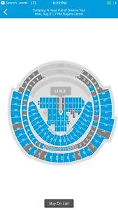 Coldplay  Floor Seats - below cost