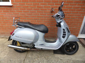 Piaggio Vespa GTS 250 56 reg, 06, Pearlescent Silver Paint, stainless steel exhaust, FULL MOT, £1195