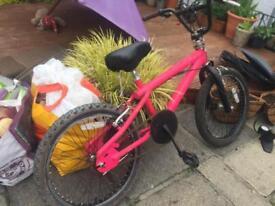 Pink BMX Bike