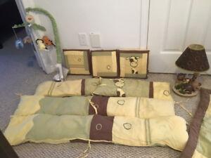 Literie pour bebe, lampe et mobile /crib accessories,lamp,mobile