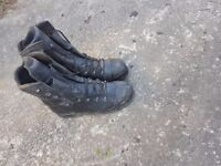 Size 11 steel toe capped hiax work boots