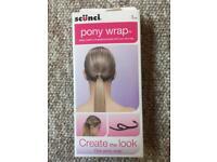 Ponytail wrap in packaging