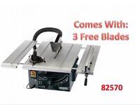 DRAPER 82570 250MM 1800W 230V EXTENDING TABLE SAW 3 FREE BLADES