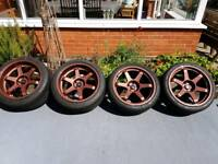 "19"" Rota Grid Drift Wheels 350z 370z Golf"
