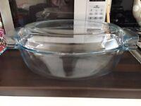 Pyrex Large Oval Glass Casserole Dish, 3L