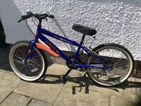 "Child's / boy's bike 11.5 inch frame, 20"" wheels"