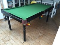 Solid wooden snooker pool table