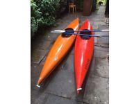 Two Kayaks plus paddles
