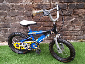 "4yrs+ ACTION MAN JO:LAN ATOM, 14"" Whls, 9"" Frame Bike SERVICED & WORKING"