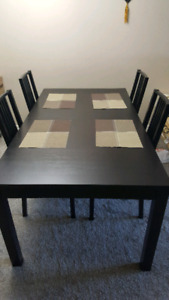 Moving Sale - IKEA Dining table with 4 Chairs