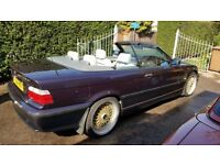 BMW E36 323i AUTO CONVERTIBLE/CABRIOLET/SOFT TOP PURPLE VIOLET (83k) + HARD TOP