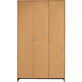 Seville 3 Door Wardrobe - Beech Effect