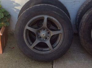 4 Tires on Tuner Rims and Locking Tuner Nuts