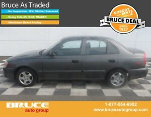 2001 Hyundai Accent GL 1.6L 4 CYL AUTOMATIC FWD 4D SEDAN