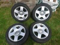 4x Audi Alloy wheels 205/55/16