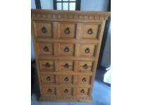 pair of 5 drawer chests for sale,