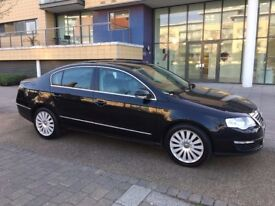 VW PASSAT 2.0 TDI CR(170) HIGHLINE 2009 4dr SALOON BLACK LEATHER INTERIOR
