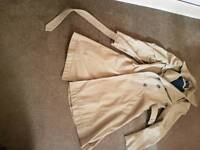 Long trench coat size 8
