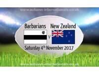 Barbarians V New Zealand Rugby Tickets - BEST SEATS - Twickenham Stadium - Sat 4th November