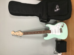 Mint Green Squier by Fender Electric Guitar