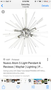 Looking for bouclair Nuevo atom lighting pendant
