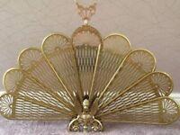 Ornate Fan Fire Guard/Screen