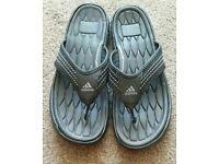 Mens Adidas flip flops size 8