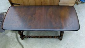 Ercol solid elm coffee table