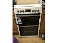 BEKO Double Oven Gas freestanding Cooker Only 8 months old Excellent Condition