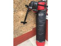 Blitz 5ft boxing bag with folding wall bracket and gloves