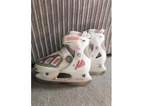 SFR pink girls ice skates size 13J-3 limited edition
