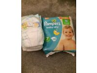 Pampers size 7 baby dry nappies 38
