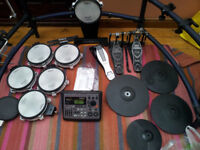 Roland TD8 drum kit with extra bits