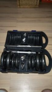CAP weight training system - All metal dumb bells.