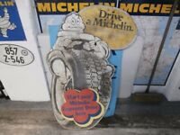 large michelin tyres hardboard sign