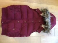 Fat Face Gilet - Maroon Size 10
