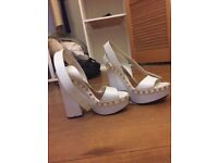 GENUINE Tom Ford ladies platform shoes size 39/6 (white)