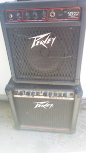 Peavey bass and guitar amps. Must go.