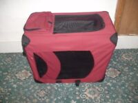 Red Canvas Dog Carrier ID 18/8/17
