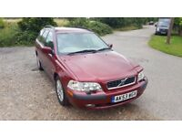 Volvo V40S Estate, 2003, 53 plate, 96k miles, Dark Red Metallic Paint, 5 Speed Manual