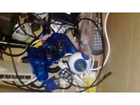 Box of PC bits. Job lot computer TV USB video remote controller